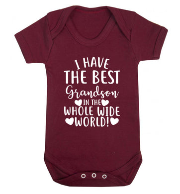 I have the best grandson in the whole wide world! Baby Vest maroon 18-24 months