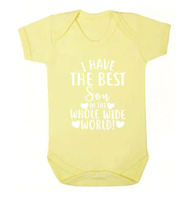 I have the best son in the whole wide world! Baby Vest pale yellow 18-24 months