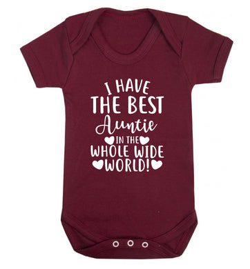 I have the best auntie in the whole wide world! Baby Vest maroon 18-24 months