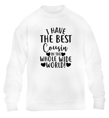I have the best cousin in the whole wide world! children's white sweater 12-13 Years