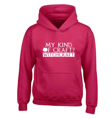 My king of craft? witchcraft  children's pink hoodie 12-13 Years