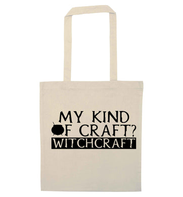 My king of craft? witchcraft  natural tote bag