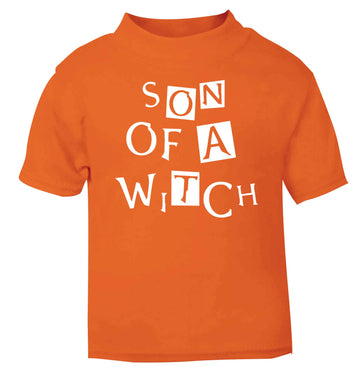 Son of a witch orange baby toddler Tshirt 2 Years
