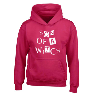 Son of a witch children's pink hoodie 12-13 Years