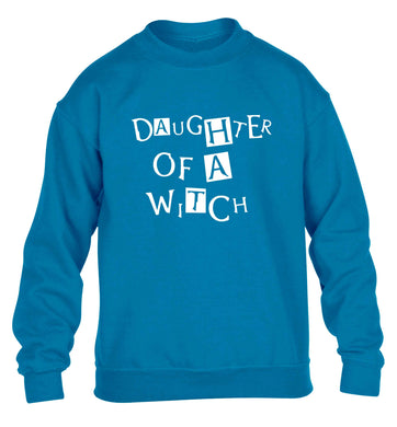 Daughter of a witch children's blue sweater 12-13 Years