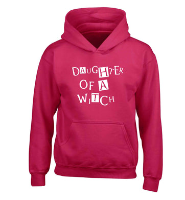 Daughter of a witch children's pink hoodie 12-13 Years
