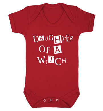 Daughter of a witch Baby Vest red 18-24 months