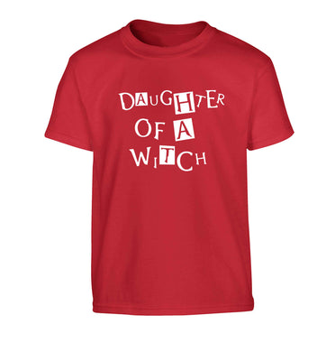 Daughter of a witch Children's red Tshirt 12-13 Years