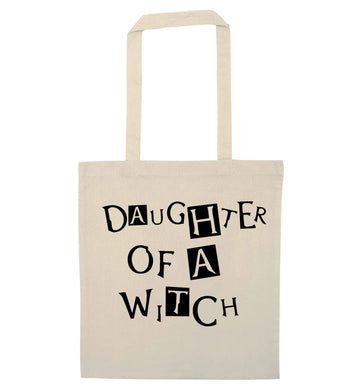 Daughter of a witch natural tote bag