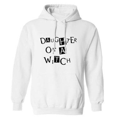 Daughter of a witch adults unisex white hoodie 2XL