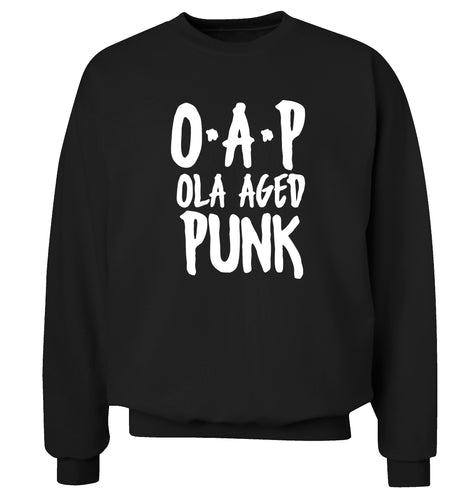 O.A.P Old Aged Punk Adult's unisex black Sweater 2XL