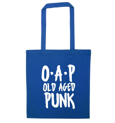 O.A.P Old Age Punk blue tote bag