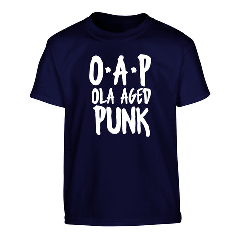 O.A.P Old Aged Punk Children's navy Tshirt 12-13 Years