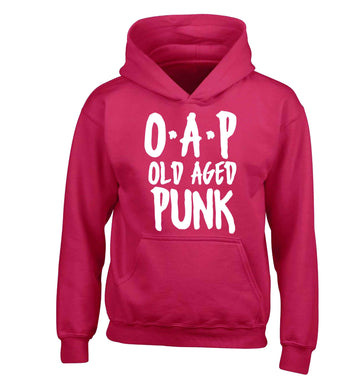 O.A.P Old Age Punk children's pink hoodie 12-13 Years