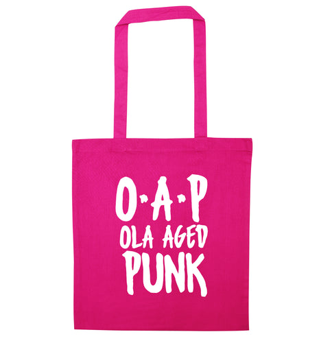 O.A.P Old Aged Punk pink tote bag