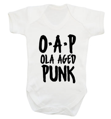O.A.P Old Aged Punk Baby Vest white 18-24 months