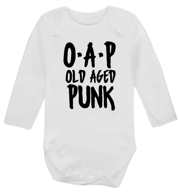 O.A.P Old Age Punk Baby Vest long sleeved white 6-12 months