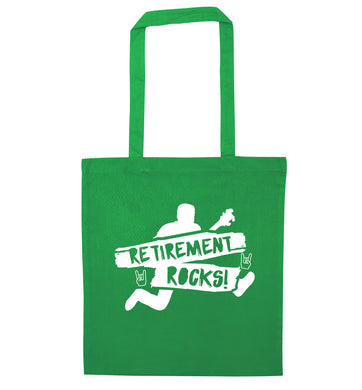 Retirement Rocks green tote bag