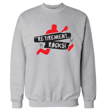 Retirement Rocks Adult's unisex grey Sweater 2XL