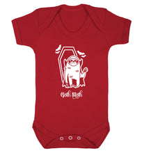 Goth Sloth Baby Vest red 18-24 months
