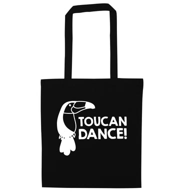Toucan dance black tote bag