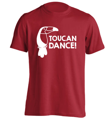 Toucan dance adults unisex red Tshirt 2XL