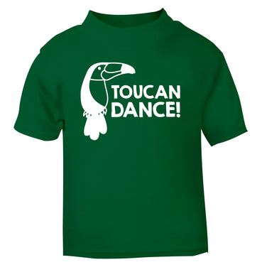 Toucan dance green Baby Toddler Tshirt 2 Years