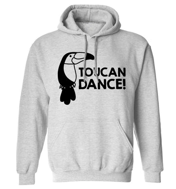 Toucan dance adults unisex grey hoodie 2XL