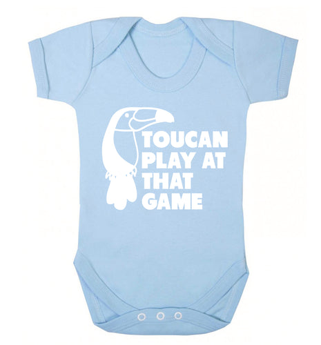 Toucan play at that game Baby Vest pale blue 18-24 months