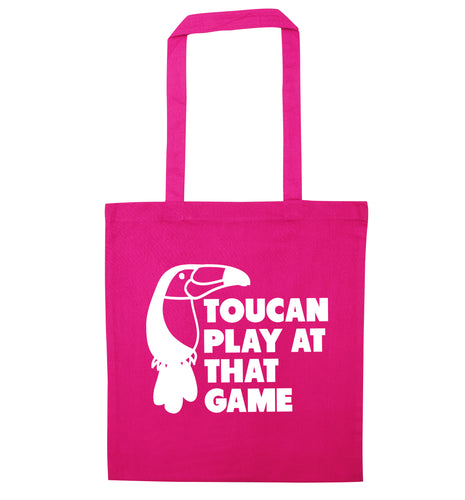 Toucan play at that game pink tote bag