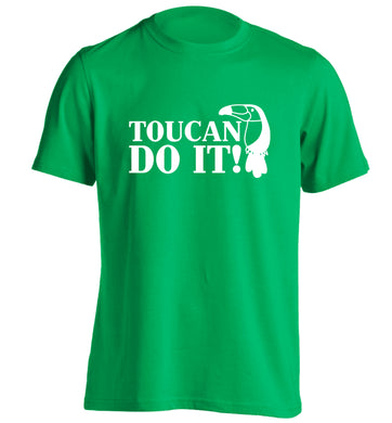Toucan do it! adults unisex green Tshirt 2XL