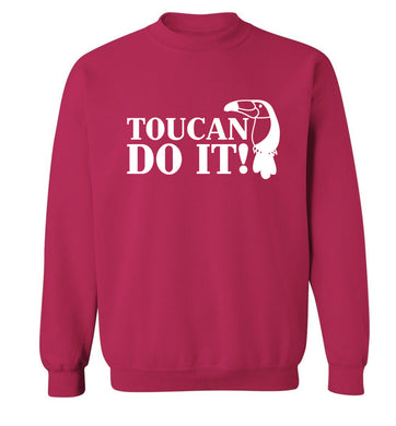 Toucan do it! Adult's unisex pink Sweater 2XL