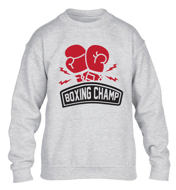 Boxing Champ children's grey sweater 12-13 Years