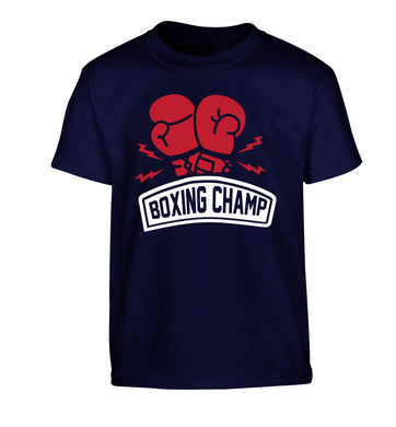 Boxing Champ Children's navy Tshirt 12-13 Years