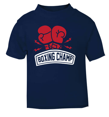 Boxing Champ navy Baby Toddler Tshirt 2 Years