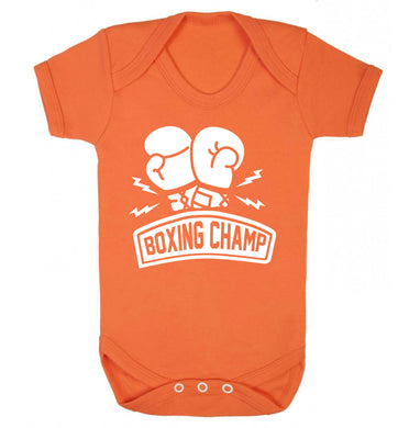 Boxing Champ Baby Vest orange 18-24 months