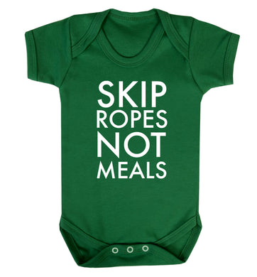 Skip Ropes Not Food  Baby Vest green 18-24 months