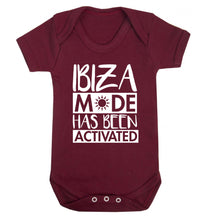Ibiza mode has been activated Baby Vest maroon 18-24 months