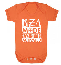 Ibiza mode has been activated Baby Vest orange 18-24 months