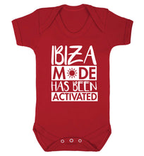 Ibiza mode has been activated Baby Vest red 18-24 months