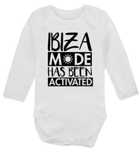 Ibiza mode has been activated Baby Vest long sleeved white 6-12 months