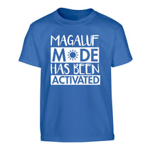 Magaluf mode has been activated Children's blue Tshirt 12-13 Years