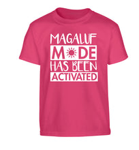 Magaluf mode has been activated Children's pink Tshirt 12-13 Years
