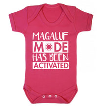 Magaluf mode has been activated Baby Vest dark pink 18-24 months