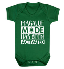 Magaluf mode has been activated Baby Vest green 18-24 months