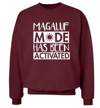 Magaluf mode has been activated Adult's unisex maroon Sweater 2XL
