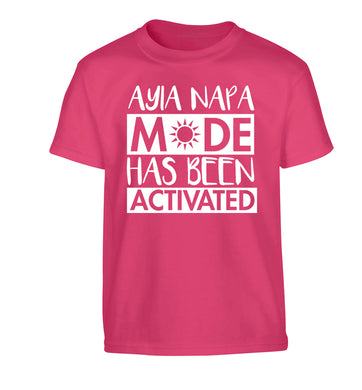 Ayia Napa mode has been activated Children's pink Tshirt 12-13 Years