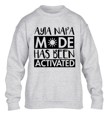 Ayia Napa mode has been activated children's grey sweater 12-13 Years