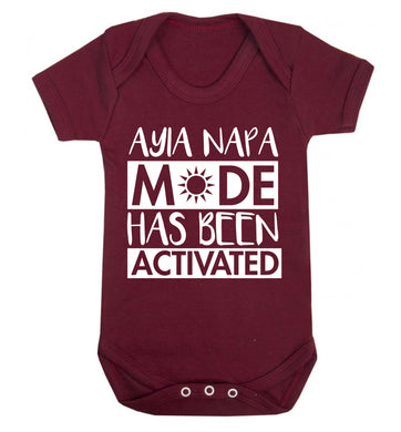 Ayia Napa mode has been activated Baby Vest maroon 18-24 months