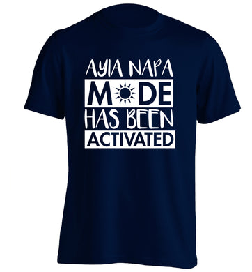 Ayia Napa mode has been activated adults unisex navy Tshirt 2XL